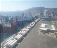 طفرة في تداول البضائع على أرصفة «البحر الأحمر» .. 6 آلاف طن خلال ساعات