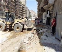 استكمال أعمال مشروعات الرصف والإنارة في العمرانية بالجيزة