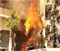 السيطرة على حريق محل ومخلفات أخشاب بالمنيب