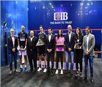 وزير الرياضة يهنئ علي فرج ونوران جوهرلفوزهما ببطولة مصر الدولية المفتوحة للإسكواش