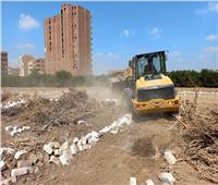 إزالة 102 حالة تعد بالبناء والزراعة على أراضي أملاك الدولة بمراكز المنيا