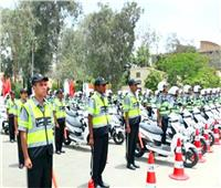 تعزيز الخدمات المرورية بالطرق والمحاور الرئيسية في الجيزة