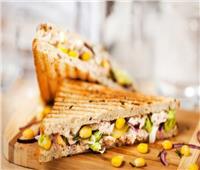 ساندويش التونة بالخضار للرجيم