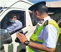 تحرير 847 مخالفة عدم الالتزام بارتداء الكمامات بالجيزة