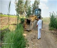 إزالة ١٢١ حالة تعدي علي الأراضى الزراعية وأملاك الدولة بالشرقية