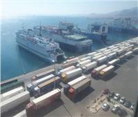تداول 15 ألف طن بضائع متنوعة اليوم بموانئ البحر الأحمر