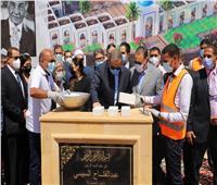 سعفان يضع حجر الأساس لمسجد فريد خميس بالعاشر من رمضان