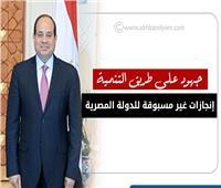 إنفوجراف  إنجازات غير مسبوقة للدولة المصرية.. جهود على طريق التنمية