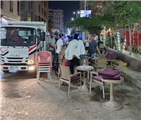 رفع ٤٢٢ حالة إشغال طريق وتحرير ٩ محاضر عدم ارتداء كمامة بالبحيرة