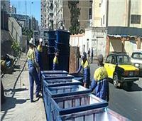سرقة 30 صندوق قمامة من شوارع الإسكندرية