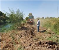 إزالة 7 حالات تعدي على أراضي الدولة بإسنا