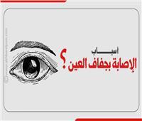 إنفوجراف| أسباب الإصابة بجفاف العين؟