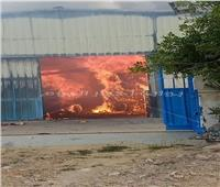 حريق هائل بمصنع للكرتون بمدينة السادات