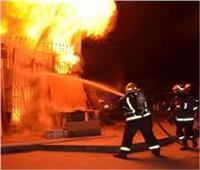 فحص آثار حريق شقة بالحوامدية