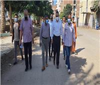 محافظ الشرقية يتابع أعمال النظافة بقرية العزيزية
