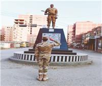 تمثال للشهيد أحمد المنسي بمنيا القمح تخليدا لذكراه
