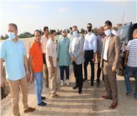محافظ المنوفية يتفقد رصف مدخل قرية زوير