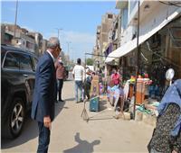 رفع الإشغالات بحي «شرق وغرب» شبرا الخيمة