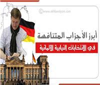 إنفوجراف| أبرز الأحزاب المتنافسة في الانتخابات النيابية الألمانية