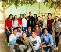 الأنبا بشارة يختتم النشاط الرياضي لشباب إيبارشية أبو قرقاص