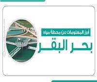 انفوجراف| أبرز المعلومات عن محطة مياه «بحر البقر»