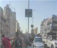 سقوط عربة كارو منأعلى كوبري بالمحلة ونجاة سائقها بإعجوبة| صور