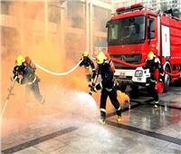 إخماد حريق داخل محطة وقود بعد انفجار أنبوب غاز بالجيزة