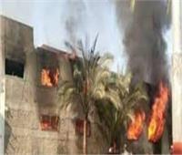 حريق ضخم يلتهم 7 منازل بالمنيا