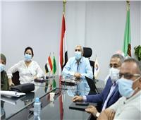 مياه المنيا: اجتماع مع مسئولي الدعم المؤسسي «IWSSTA» لتطوير المحطات الرئيسية