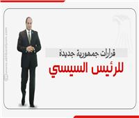 إنفوجراف  قرارات جمهورية جديدة للرئيس السيسي