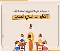 إنفوجراف  3 تعليمات جديدة للمديريات استعدادا لبدء العام الدراسي الجديد