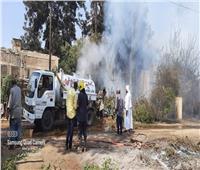 ننشر الصور الأولى لحريق «جزيرة الشعير» بالقناطر الخيرية بالقليوبية