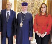 بابا الأرمن يشكر الرئيس السيسي ويثمن جهود مصر لتحقيق السلام