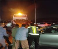 المرور يدفع بـ«أوناش» لرفع حادث سيارتين ملاكي بمحور 26 يوليو