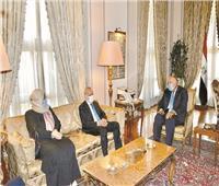 شكرى يؤكد دعم القاهرة لليبيا لتجاوز المرحلة الراهنة