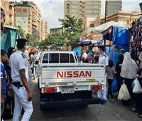 إزالة الإشغالات بسوق باكوس وشارع مصطفى كامل بالإسكندرية