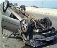 إصابة 8 أشخاص في حادث انقلاب سيارة بترعة بالمنيا
