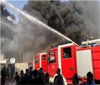 إخماد حريق بمحل شنط مدرسية في السويس