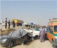 مصرع ربة منزل وإصابة 15 آخرين في حادث بالمنيا