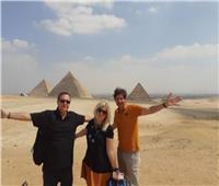 """""""الإتحاد من أجل المتوسط """" يعبرون عن إنبهارهم بالحضارة المصرية وعظمةالأهرامات صور"""