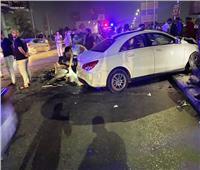مصرع وإصابة 6 أشخاص في حادث أعلى كوبري أكتوبر.. صور