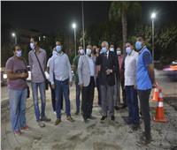 محافظ الجيزة يتابع أعمال رصف وتطوير شوارع حي العمرانية