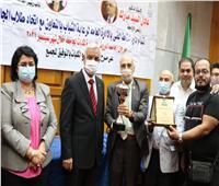مبارك يشهد حفل توزيع جوائز مهرجان العروض المسرحية بجامعة المنوفية
