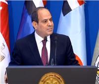 الرئيس السيسى: لن نترك أرضا يمكن تنميتها فى سيناء إلا وهنميها