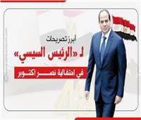 إنفوجراف  أبرز تصريحات «الرئيس السيسي» في احتفالية نصر أكتوبر