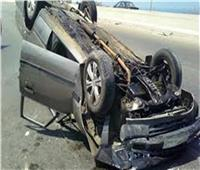 بالاسماء .. إصابة 9 أشخاص في حادث انقلاب سيارة بالمنيا