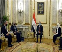 مدبولي يلتقي عميد الدراسات العليا بطب هارفارد والسفير الأمريكي بالقاهرة
