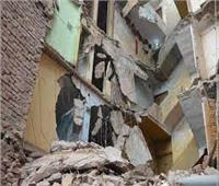 انهيار في برج سكني ببني مزار بالمنيا