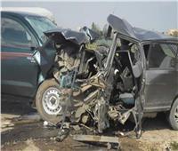 إصابة 14 شخصًا في حادثي سير بالمنيا