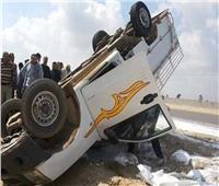 مصرع عامل وتباع في حادث انقلاب سيارة بالمنيا